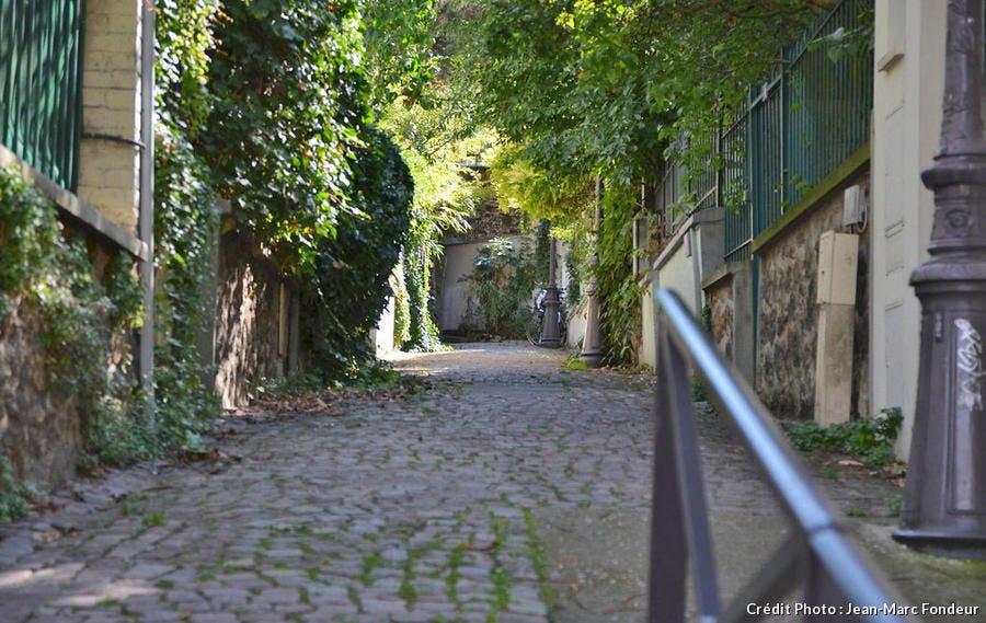 La quartier de la Mouzaïa à Paris