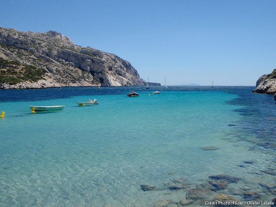 La plage de la calanque de Sormiou à Marseille