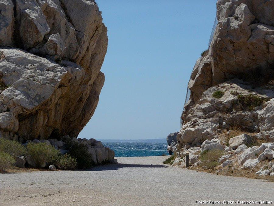 Plage de l'île du Frioul à Marseille