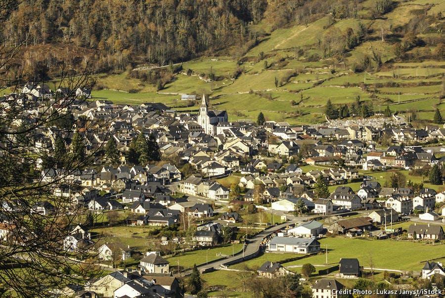 Village de Laruns dans les Pyrénées