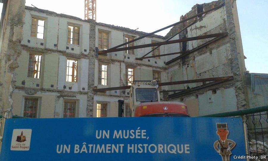Confortement de la façade gendarmerie Saint-tropez