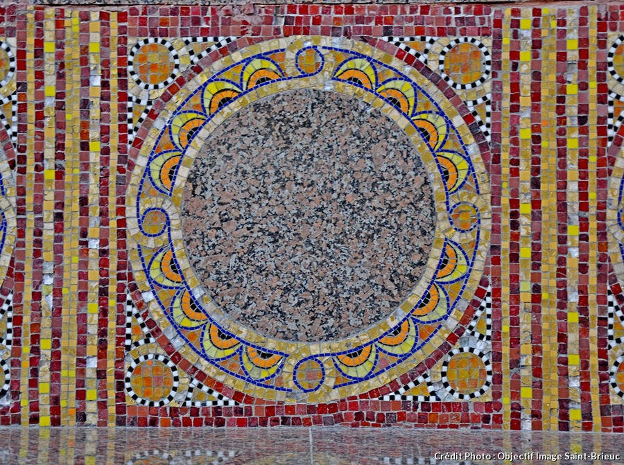 L'une des mosaïques de l'hôtel