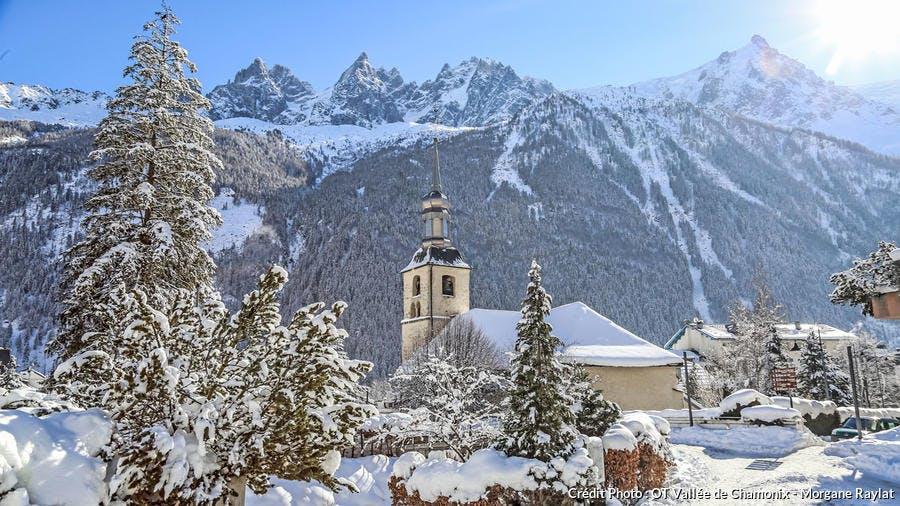 Eglise dans la vallée de Chamonix-Mont-Blanc