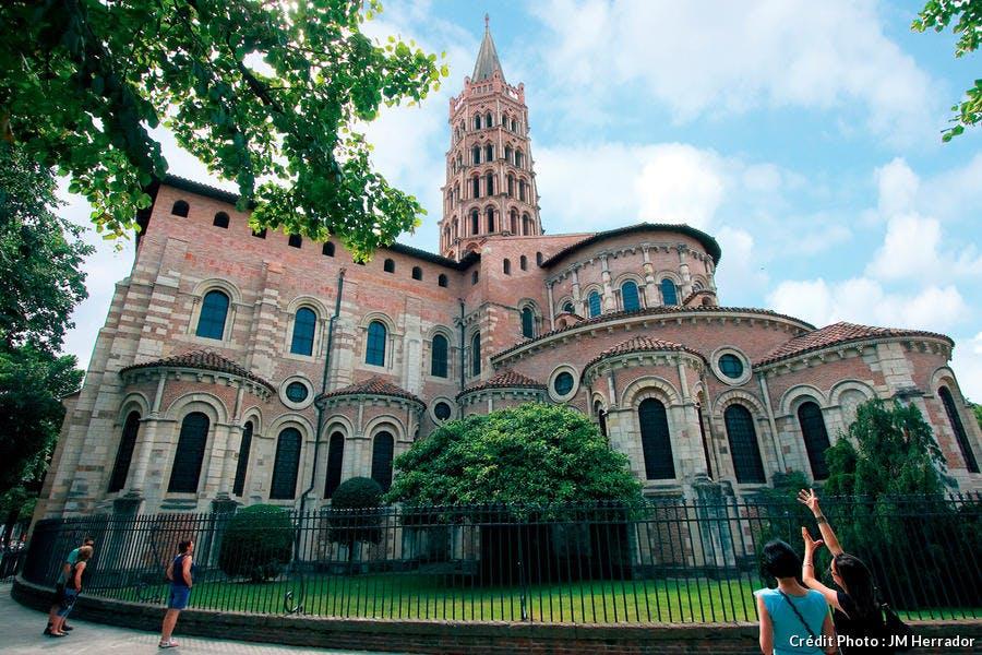 La basilique Saint Sernin à Toulouse