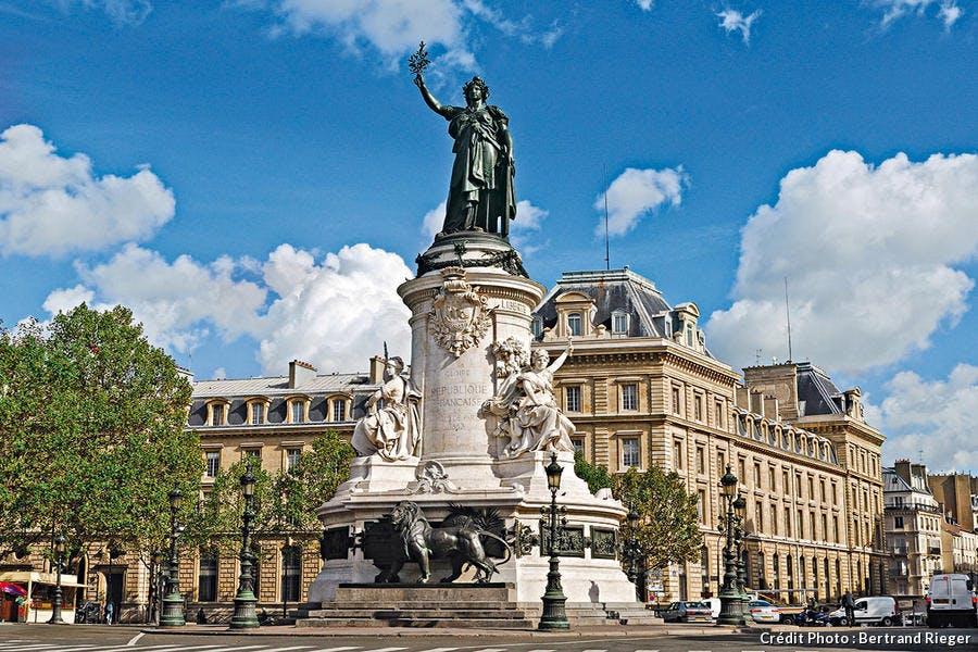 Marianne en bronze de la place de la République