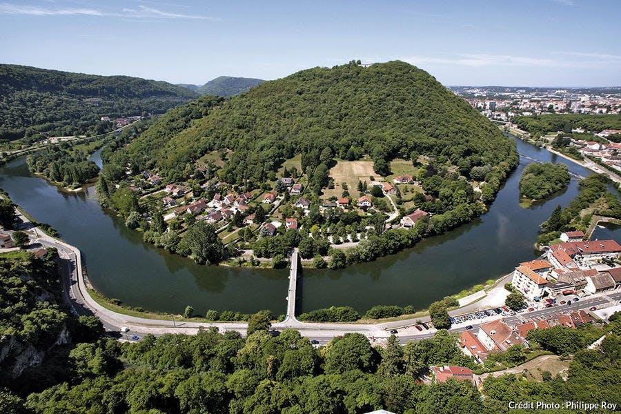 Vue depuis la citadelle de Besançon.