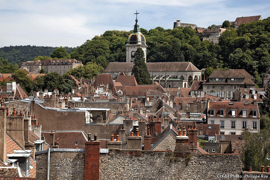 La ville basse de Besançon.