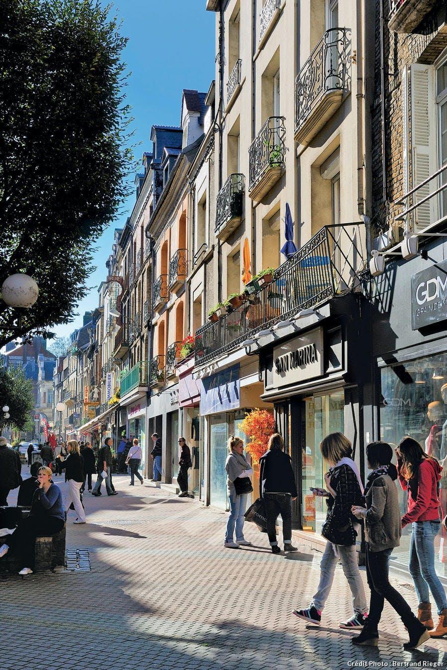 La Grande-Rue à Dieppe