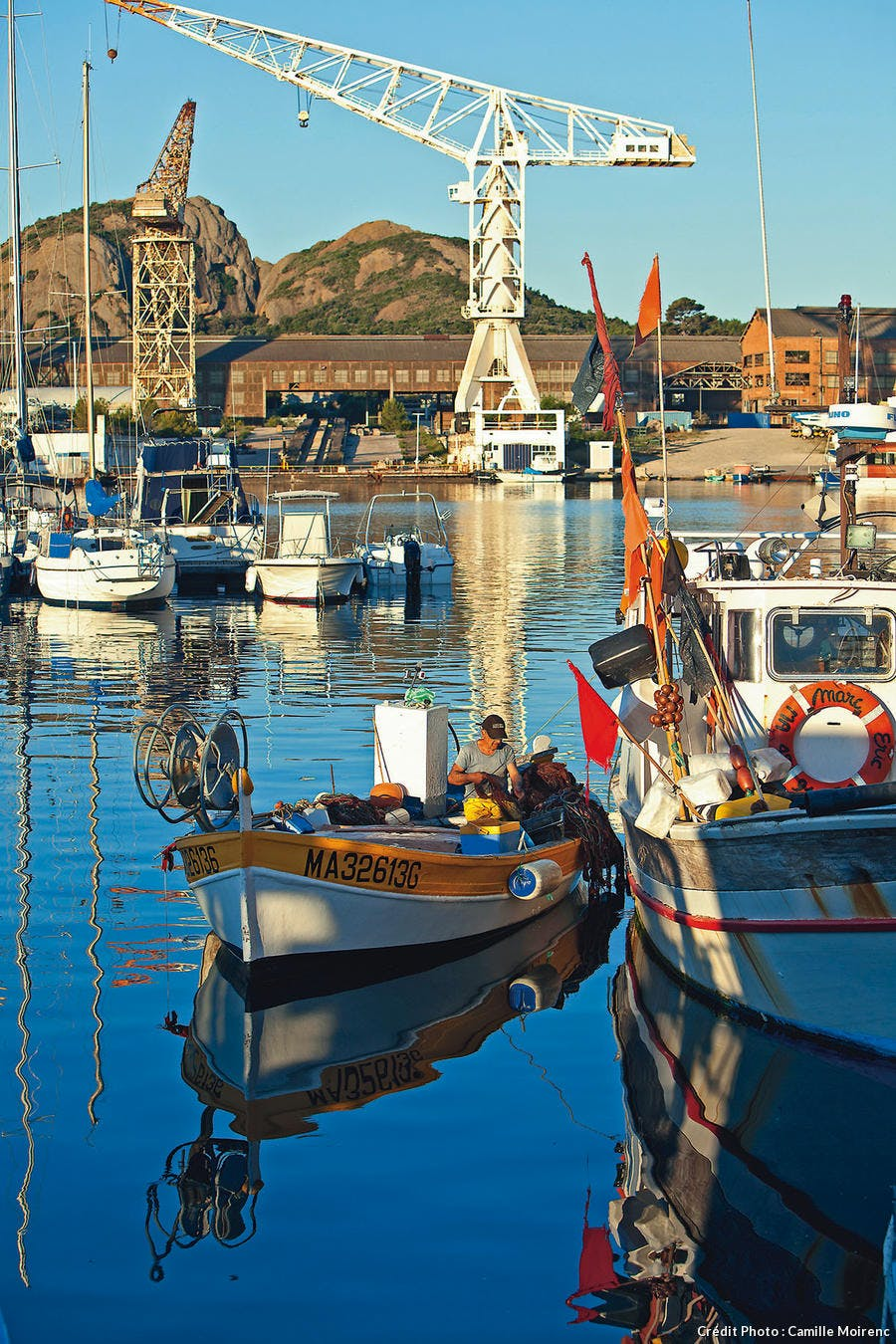 Embarcation de pêcheur dans le port de La Ciotat