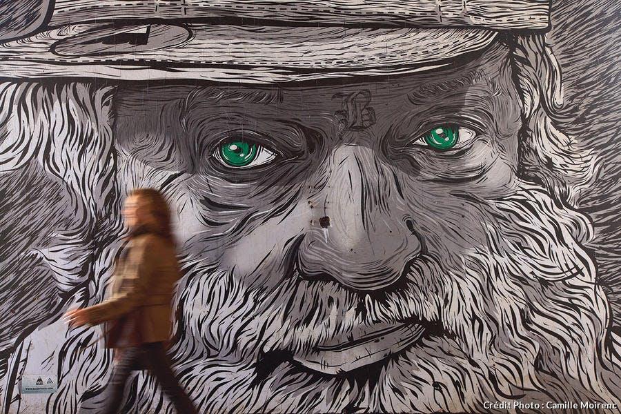 Street Art sur les murs de la Friche