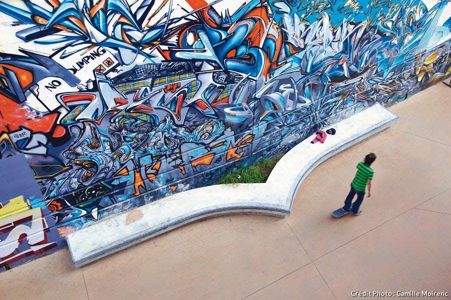 Street Art visible au skatepark