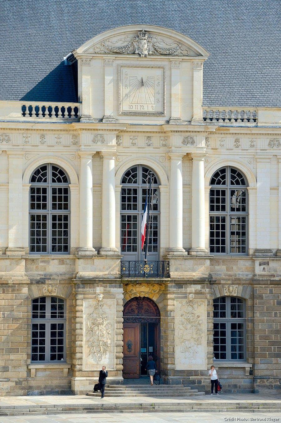 Façade du parlement de Rennes