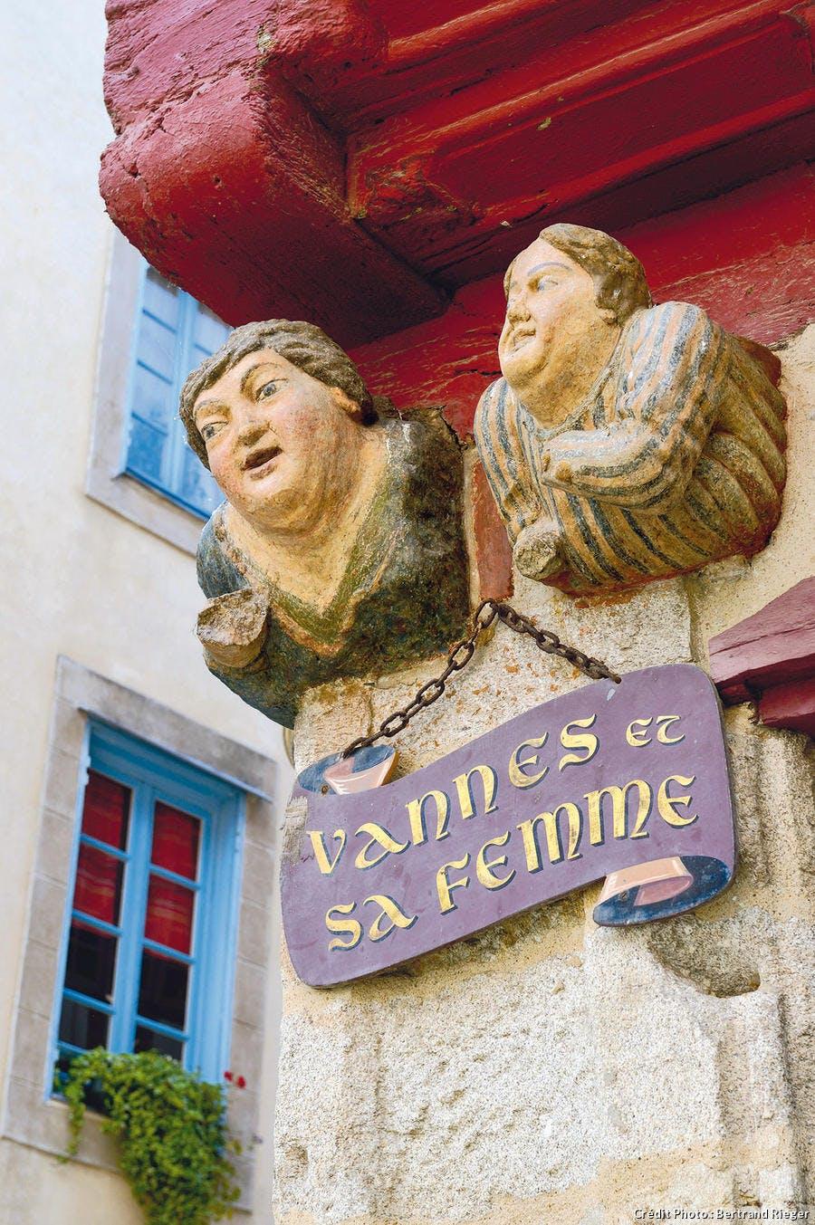 Sculptures de bois à Vannes
