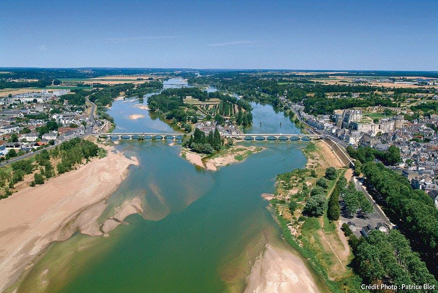Vue aérienne de la Loire