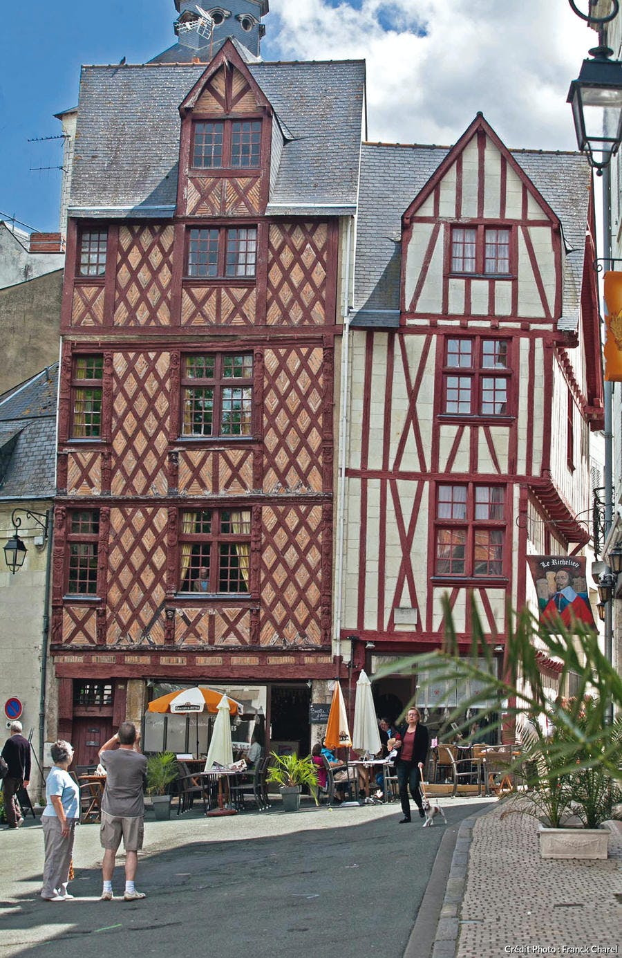 Maisons à pans de bois dans le centre-ville de Saumur