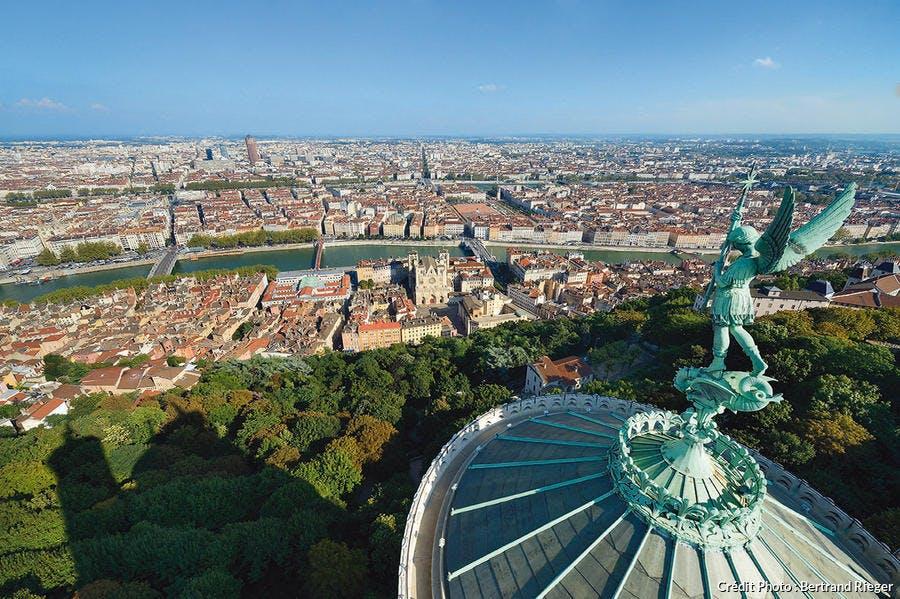 Panoramique de la ville de Lyon