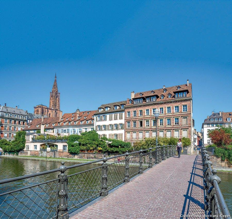 La passerelle de l'Abreuvoir à Strasbourg