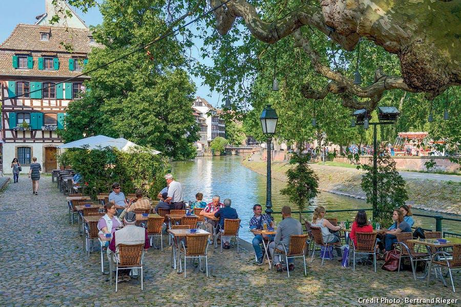 Le quai de la Petite France à Strasbourg