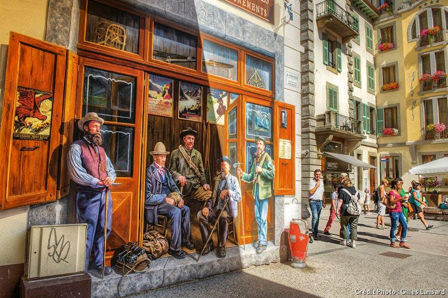 La fresque des guides à Chamonix