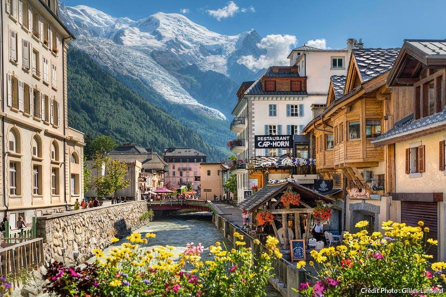 L'Arve traverse Chamonix