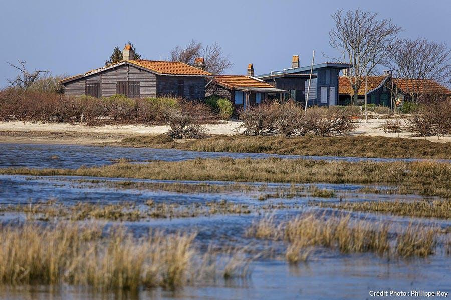 Village Afrique sur l'île aux oiseaux