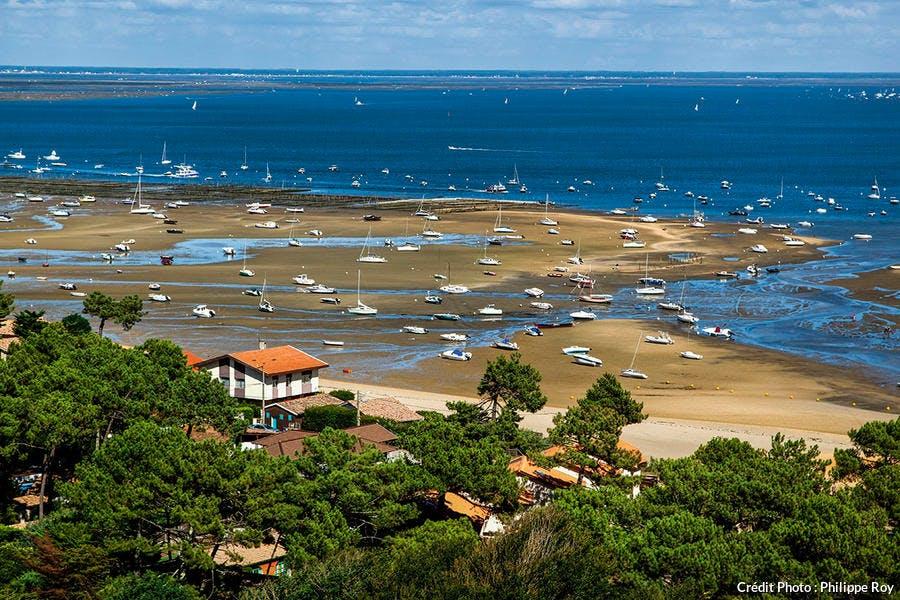 La plage de Bélisaire vue depuis le phare du Cap-Ferret.