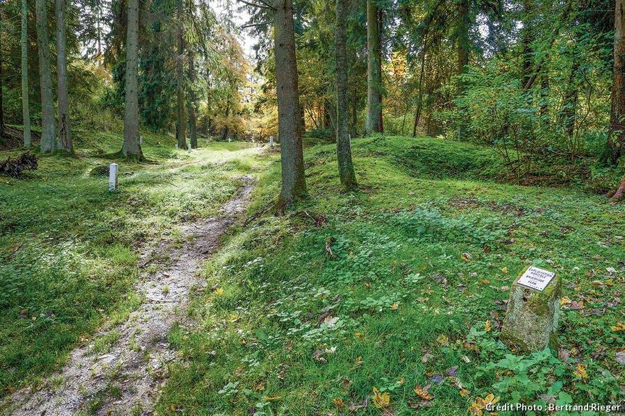 Le lieu où se trouvait le village de Fleury-devant-Douaumont dans la zone rouge.