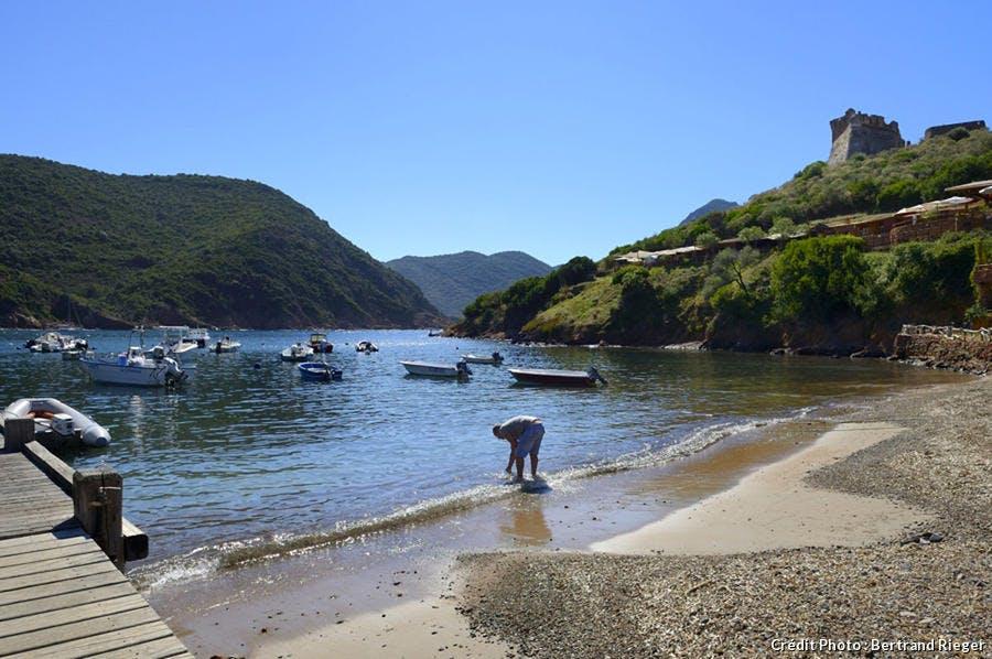 La plage de Focaghia Osani dans le golfe de Girolata