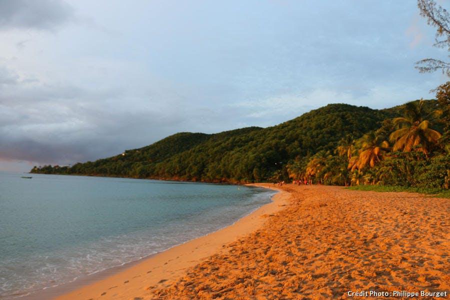 La plage Grande-Anse, à Deshaies, en Guadeloupe