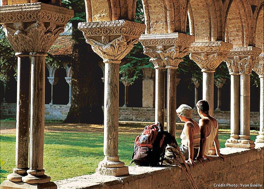le cloître de l'abbaye Saint-Pierre à Moissac