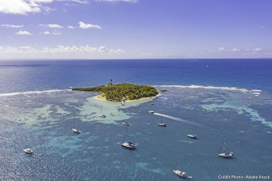 L'îlot du Gosier face à la plage de la Datcha (Guadeloupe)