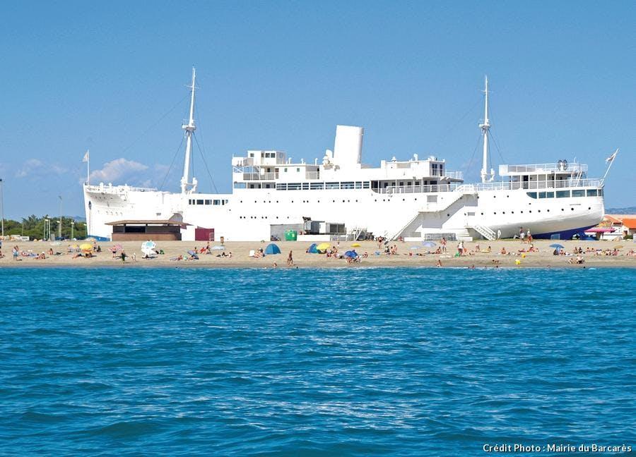 la grande plage du Lydia au Barcarès