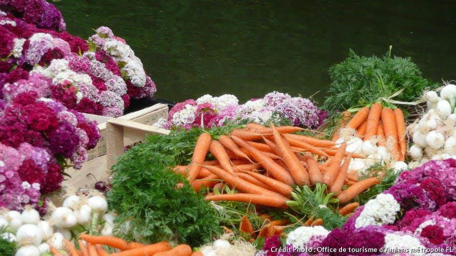 Légumes et fleurs des Hortillonnages