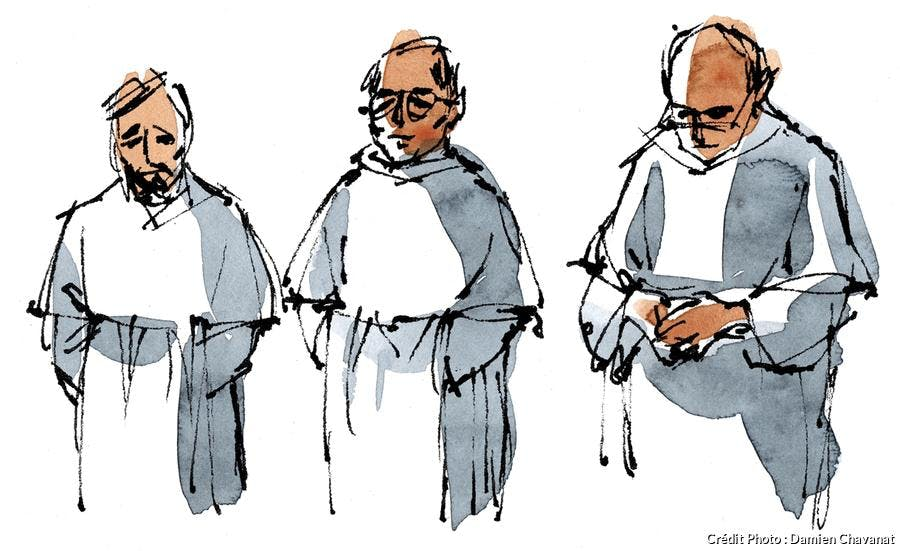 Frères du monastère de Saint-Martin de Mondaye