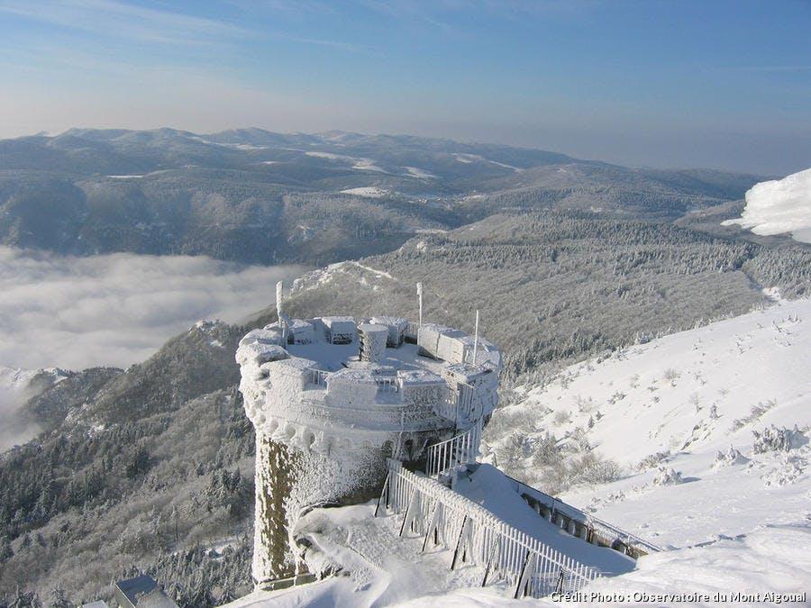 Le Mont Aigoual sous la neige