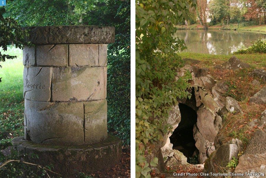 l'autel de la Rêverie et la grotte des Naïades