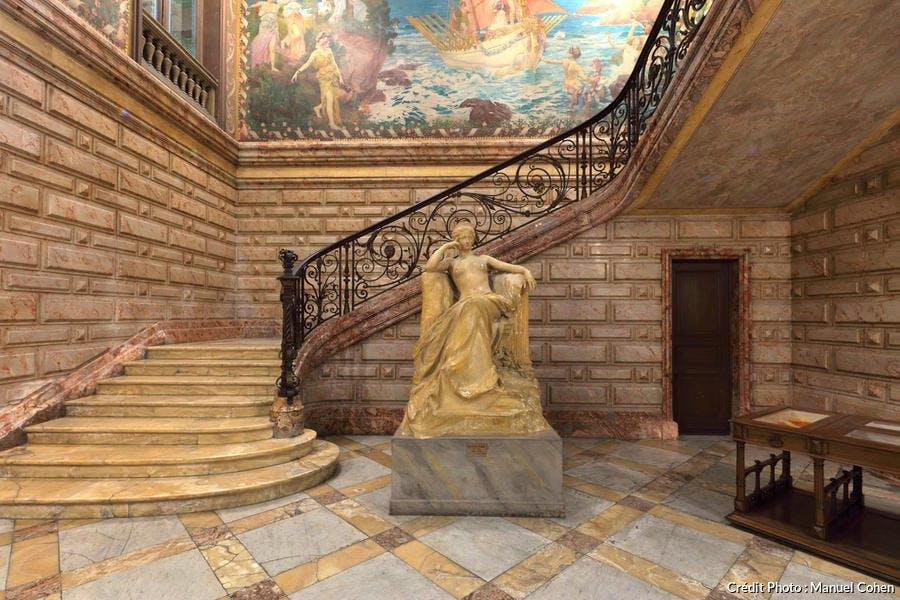 Intérieur du musée d'art Hyacinthe Rigaud, à Perpignan