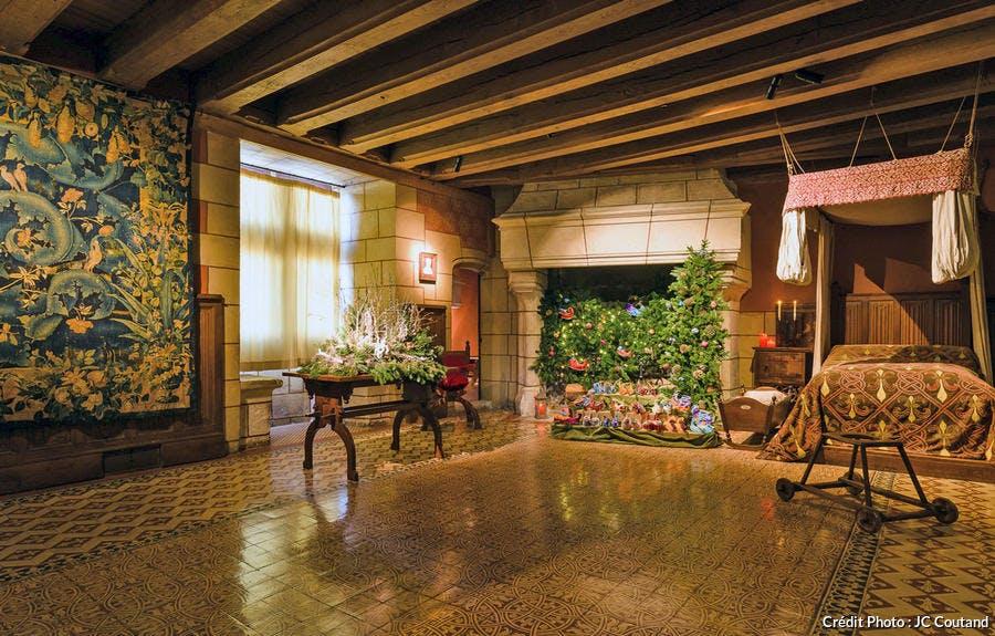 Intérieurs du château de Langeais à Noël