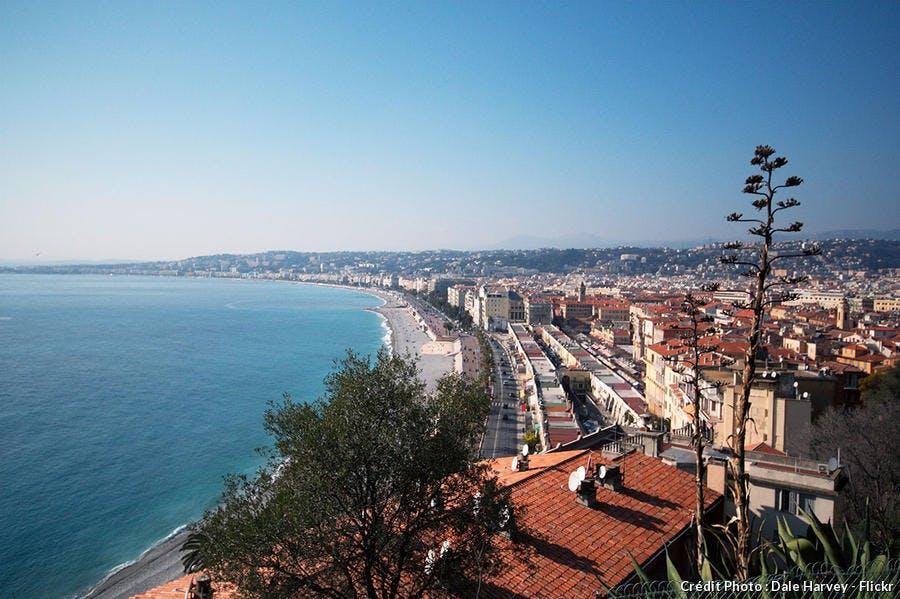 La promenade des Anglais dans la ville de Nice