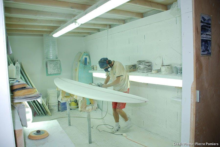 fabrication d'une planche de surf étape 3