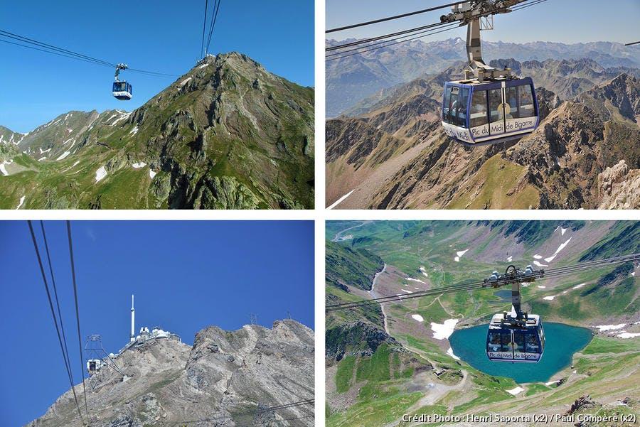 Le téléphérique du Pic du Midi à la saison chaude