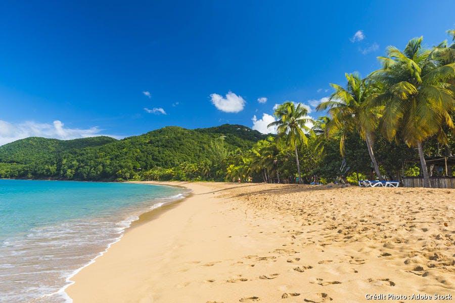 L'anse de la Perle, à Deshaie (Guadeloupe)
