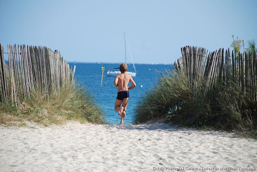 La grande plage de Carnac