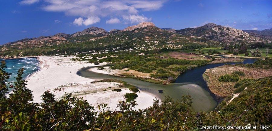 La plage d'Ostriconi, en Haute-Corse