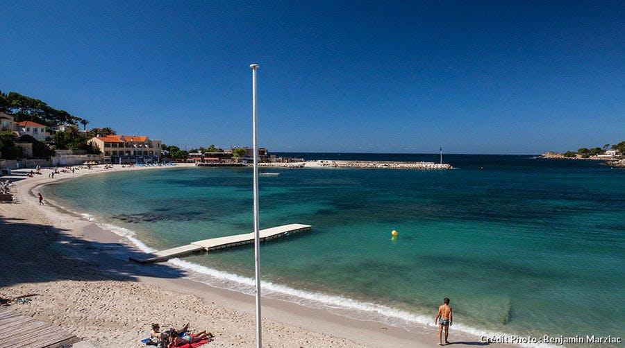La plage de Rènecros à Bandol