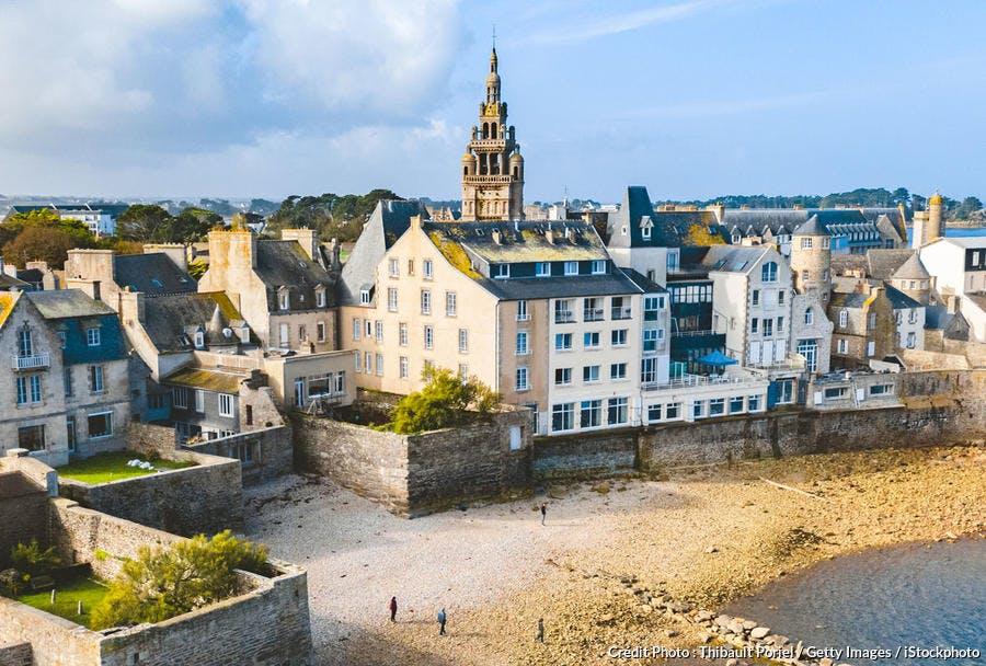 Roscoff et ses remparts, Finistère, Bretagne