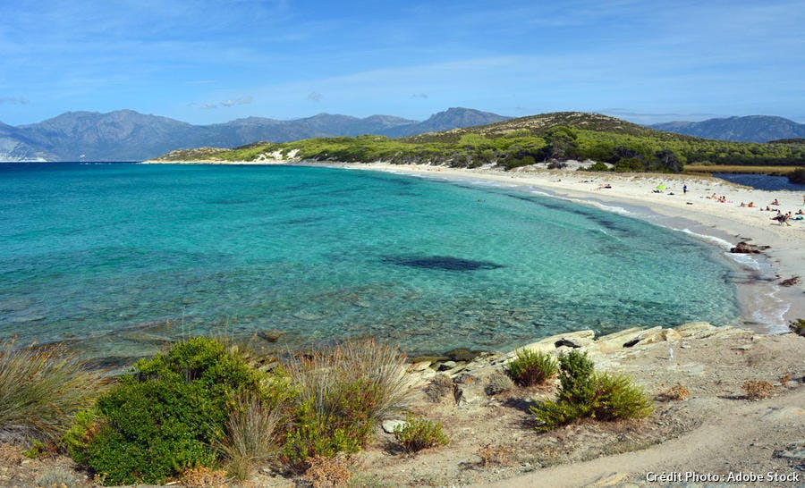 La plage de Saleccia, en Haute-Corse