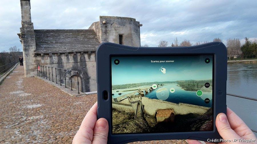 Le pont d'Avignon en 3D