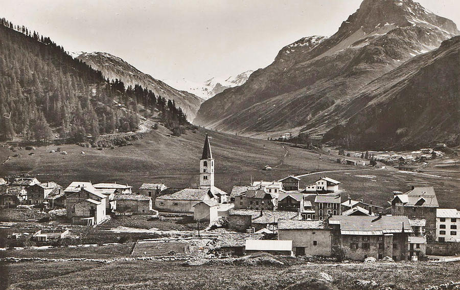 Le village de Tignes avant la construction du barrage