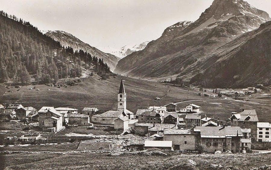 Le village de Tignes avant la construction du barrage